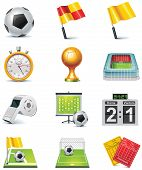 picture of offside  - Set of the detailed soccer related icons - JPG