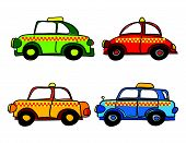 Taxi Cars Cartoon