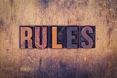 ������, ������: Rules Concept Wooden Letterpress Type