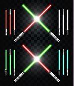 Постер, плакат: Light swords Star war Laser weapons laser sword neon sword