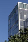 City Offices Against A Summer Skyline