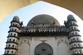 Gumbaz Through Arch