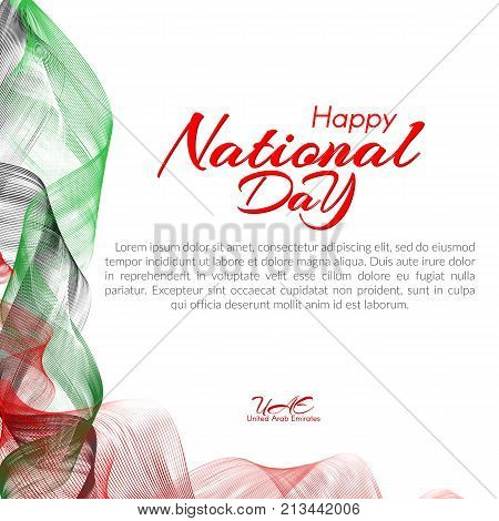 Template with colors of the national flag of united arab emirates template with colors of the national flag of united arab emirates uae happy national m4hsunfo