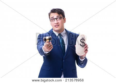 Lawyer with a gavel and