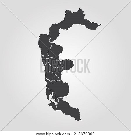 Map Of Azad Kashmir Poster ID - World map silhouette poster