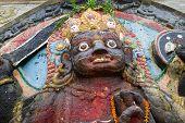 pic of kali  - The statue of Kali at Durbar Square of Kathmandu - JPG