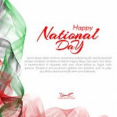 Template With Colors Of The National Flag Of United Arab Emirates (uae) Happy National Day Vector poster