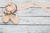 Pair Of Ballet Shoes And A Diadem poster