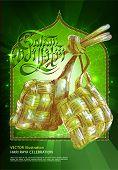 stock photo of hari raya  - Vector of Hari Raya Ketupat for Muslim celebration - JPG