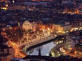 View Of Bilbao At Twilight