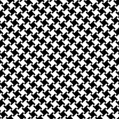 Different Houndstooth in Black and White