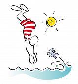 Nadador gracioso