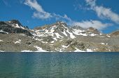 picture of engadine  - beautiful alpine lake in engadine - JPG
