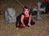 Vampire Girl In Graveyard