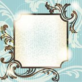 Vintage French retro background with transparencies