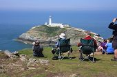 South Stack Island And  Lighthouse