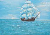 Sailing Ship In The Ocean