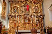 Spanish Ornate Altar Serra Chapel Mission San Juan Capistrano California
