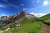 Path Over Pordoi Pass