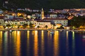 Town Makarska In Croatia At Night