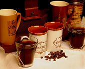 Coffee Mugs And Beans