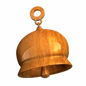 picture of orthogonal  - bell in wood  orthogonal view  - JPG