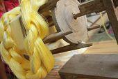 stock photo of silk worm  - Making Silk  - JPG