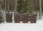 Memorial Tables In The Katyn Forest