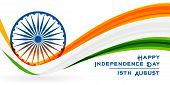 National Independence Day Of India Flag Background poster