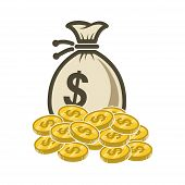 Money Vector Icon, Money Coin Vector, Money Icon Eps10, Money Icon Symbol, Money Icon Jpg, Money Ico poster
