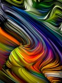 Swirling Paint Background poster