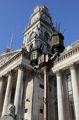 ornate streetlamp at portsmouth guildhall