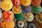 colorful ceramic plates