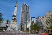Monument Circle, Indianapolis, Indiana.