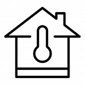 Temperature Adjustment Icon. Outline Temperature Adjustment Icon For Web Design Isolated On White Ba poster
