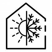 Climate Control Smart Home Icon. Outline Climate Control Smart Home Icon For Web Design Isolated On  poster