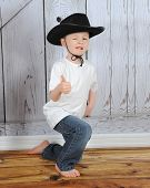 Sweet Young Cowboy Being Playful