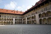 Arcaded Courtyard In Wawel Castle, Poland