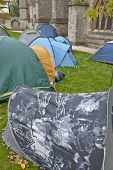 The tents of the Occupy Exeter Camp