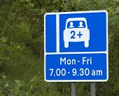 Car share road sign