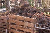 Bio-Kompost-Haufen