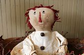 Old tattered hand-stiched doll