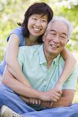image of close-up middle-aged woman  - Close up of a Couples smiling - JPG