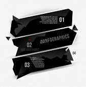 Moder abstract banner design for infographics, business design and website templates, cutout lines a