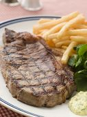 Steak Frite With Watercress And Barnaise Sauce