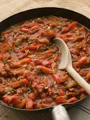 Piperade In A Saut Pan