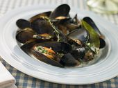 Plate Of Moules Mariniere