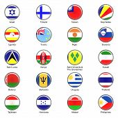 Vector World Flag Buttons - Pack 5 of 8