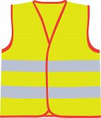 foto of camisole  - A vector illustration of yellow safety vest - JPG