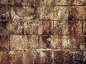 Brown grungy wall - Sandstone surface background.Shot in paris,france